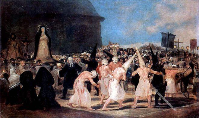 Flagellanten, Mittelalter, Geißler, Francisco Goya, Malerei, Büßerbewegung