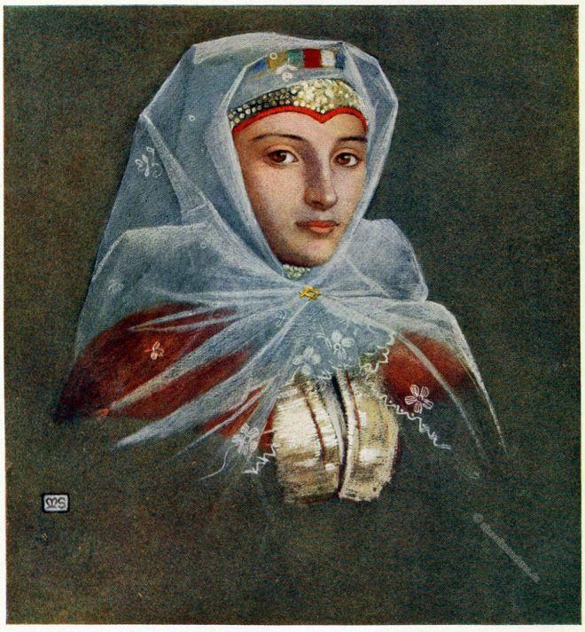 Marianne Stokes, Zsdjar, Tatra, Slowakei, Ždiar, Trachten, Slovakia, Zár, Costume,