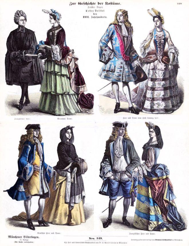 Die Mode Des Barock Und Rokoko Im 17 U 18 Jahrhundert