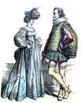 Mode deutscher Edelleute um 1640.