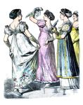Deutsche und französische Mode 1808-1809.