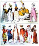 England. Mode des Regency  1795-1815.