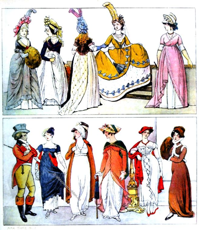 England, Regency, Mode, Kostüme