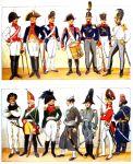 Heeresuniformen der napoleonischen Zeit. Anfang des 19. Jh.