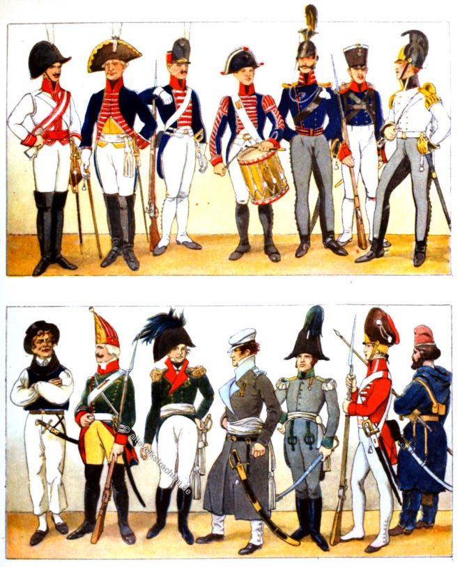 Heeresuniformen, England, Preussen, Österreich