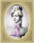 La Duchesse de Raguse 1816. Miniatur von J. B. Isabey.