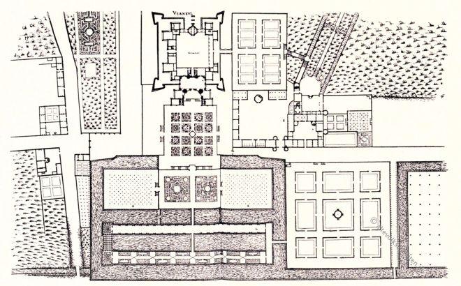 Verneuil, Du Cerceau, Gartenanlage, Renaissance