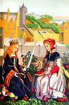 Märtyrerinnen Katharina von Alexandrien und Agnes von Rom.