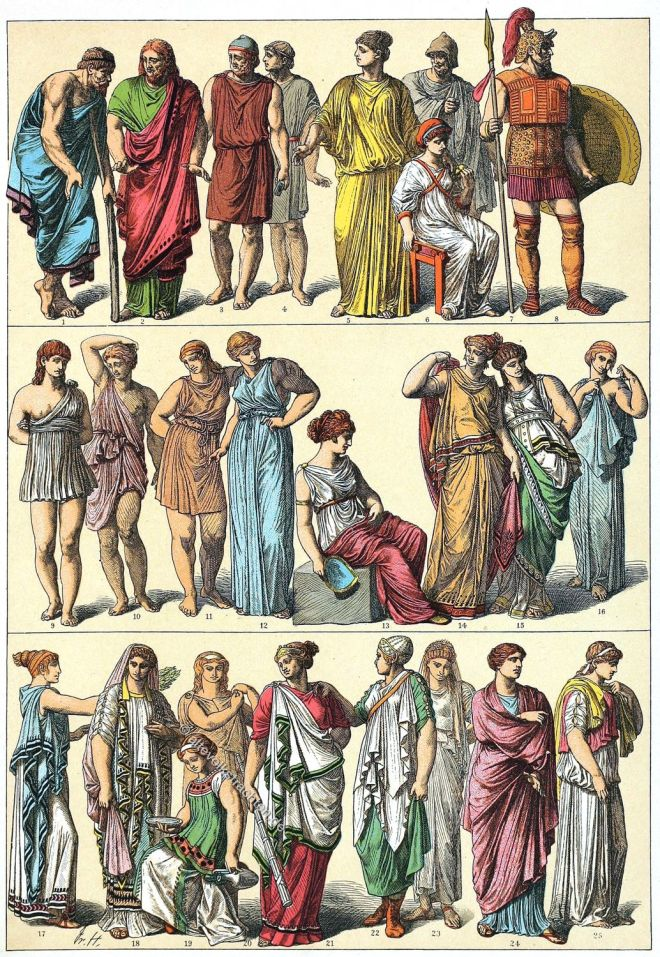 Chiton, Himation, Griechenland, Antike, Mode