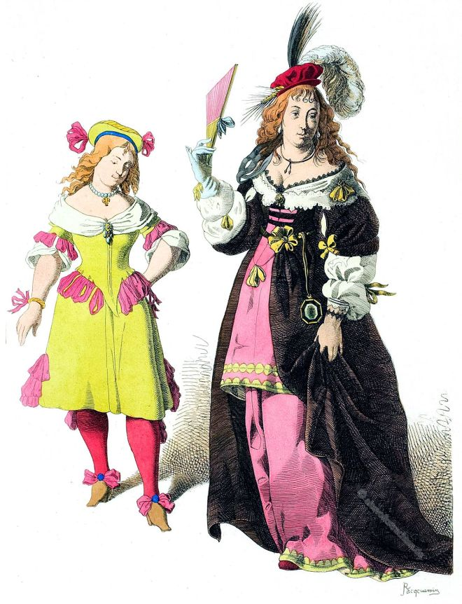 Kostüme, Mode, Barock, Italien, 17. Jahrhundert,