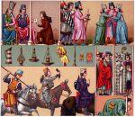 Der König von Kastilien; Prälat, Edle, Krieger und Bürger. Weibliche Tracht.