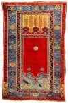 Türkei. Traditioneller Ladik Teppich mit Mihrab Design.