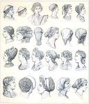 Römische Kopfbedeckungen und Haartrachten der Antike.