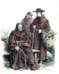 Habit der Franziskaner Mönche. Geistliche Ordenstrachten.