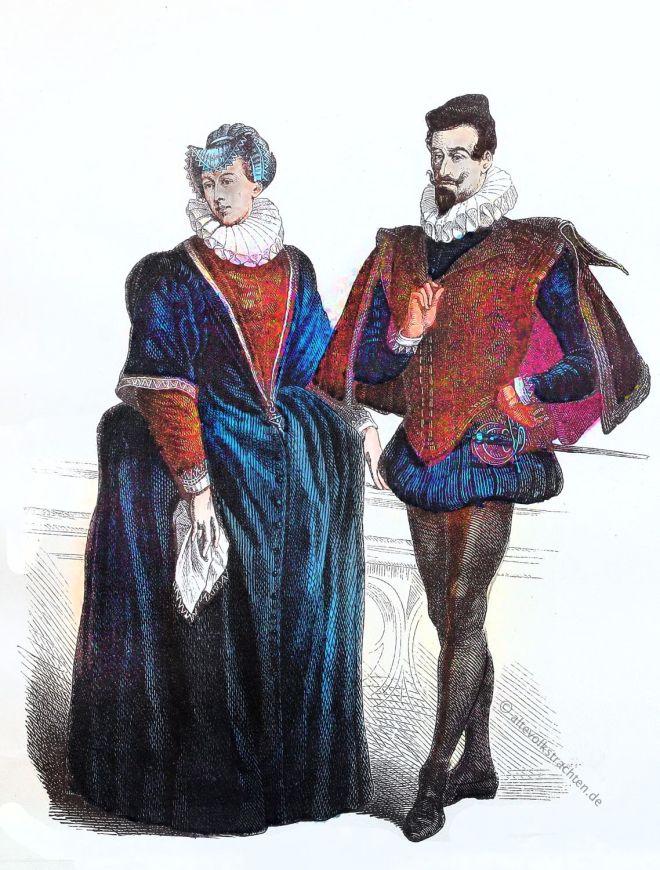 Münchener Bilderbogen, Heerpauke, Vertugado, Kostüme, Renaissance, spanische hofmode,