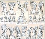 Die Déshabillés. Haartrachten und Kopfbedeckungen des Rokoko.