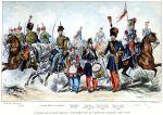 Frankreich Uniformen. Die Armee des Zweiten Reiches.  (1854-1860).