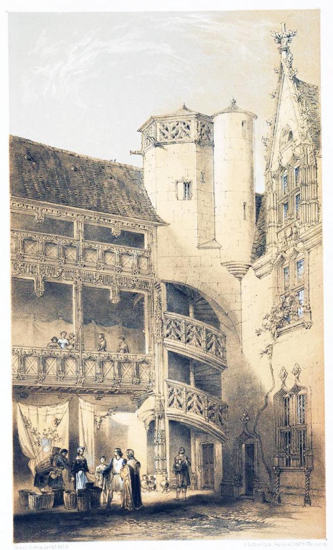 Hôtel, Chambellan, Dijon, Frankreich, Mittelalter, Architektur, Gotik