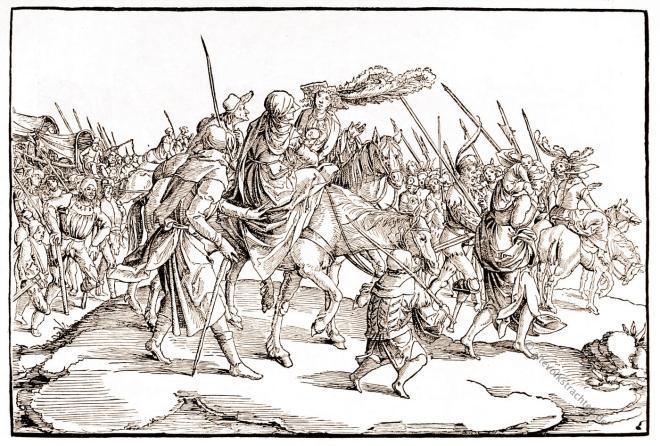 Tross, Heer, Nicolaus Meldemann, Soldaten, Landsknechte, Söldner,