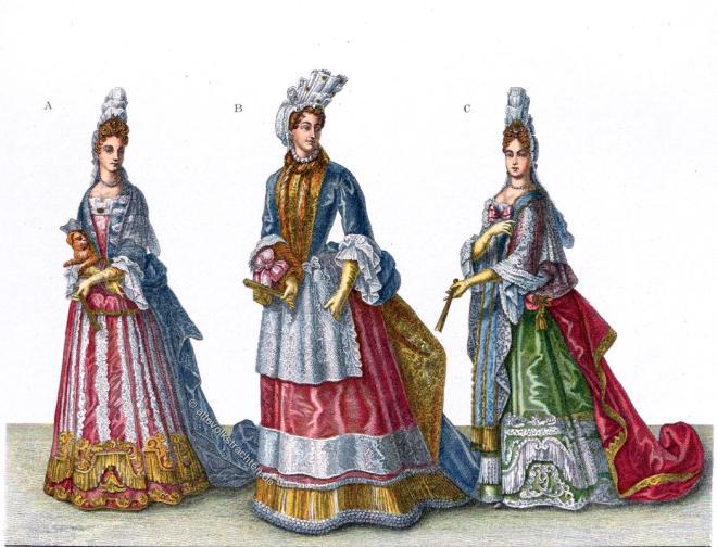 Coiffure, Fontanges, Barock, Mode, Barock, Versailles, Frankreich, Louis XVI,