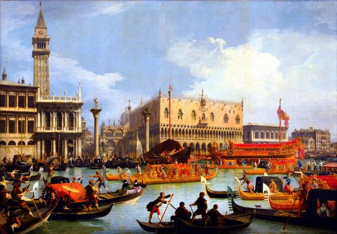 Canaletto, Bucintoro, Giovanni Antonio Canal,