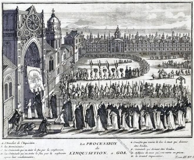 Portugiesisch-Indien, Goa, Inquisition, Prozession, Picart, Bernard,