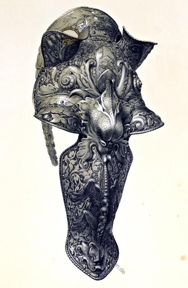 Rosskopf, Pferdekriegsrüstung, Pferderüstung, Renaissance, Plattnerarbeit, Plattner,