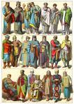 Byzantiner. Spätbyzantinische Zeit. Kostüme von Adel und Klerikern.