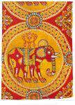 Byzantinischer Seidenstoff mit Elefanten des 8. bis 10. Jahrhunderts.