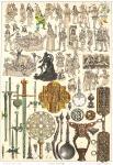 Skandinavische Krieger und Kriegsknechte im 16. Jahrhundert.