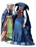Bekleidung vornehmer Frauen aus Köln im 16. Jahrhundert.