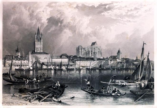 Köln, Rhein, malerische, Landschaft, Stadtansicht