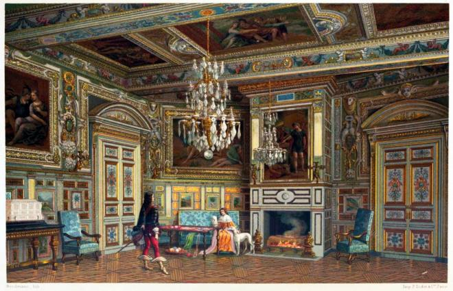 Schloss, Fontainebleau, Chambre, Ovale,