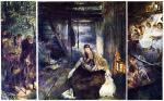 Triptychon. Die heilige Nacht des Malers Fritz von Uhde.