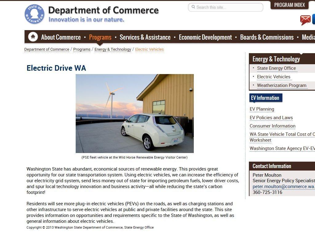 Electric Drive Wa Alternative Fuel Toolkit