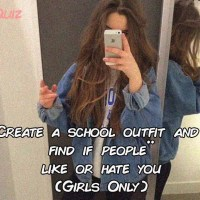 Create a school outfit and find if people like or hate you (Girls Only)