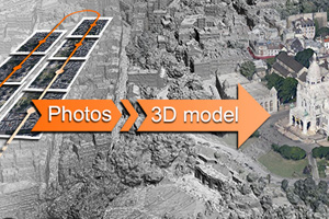 3D modeling from photographs