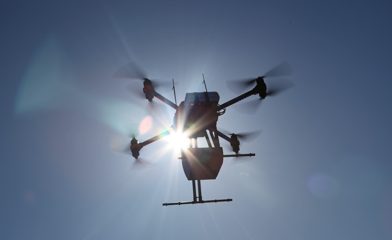 Embedded LIDAR technology on OnyxStar FOX-C8-HD drone