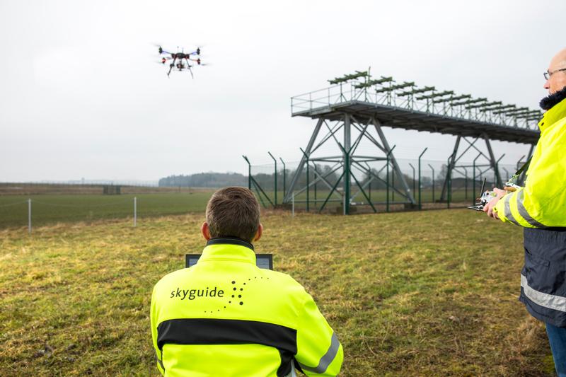 Airport flight navigation system maintenance using UAV: Onyxstar ILS flight check drone