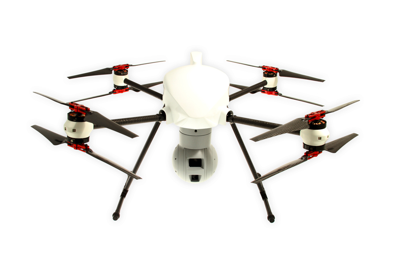 altigator onyxstar drone uav aerial surveillance security infrared hd zoom connex 360 gimbal - XENA Observer