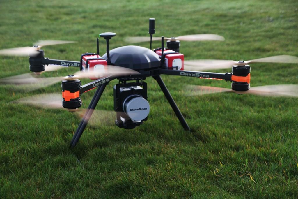 OnyxStar FOX with OnyxScan LiDAR embedded ready for take-off