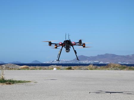 Décollage du drone de secours