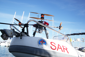 Rescue drone for night and day sea surveillance in order to help immigrants search