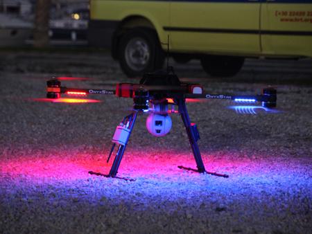 SAR drone takeoff