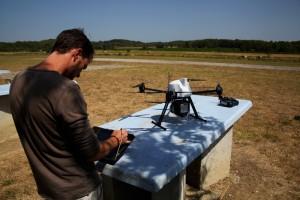 Préparation du sondage Lidar avec le drone OnyxStar XENA et le lidar YelloScan Surveyor