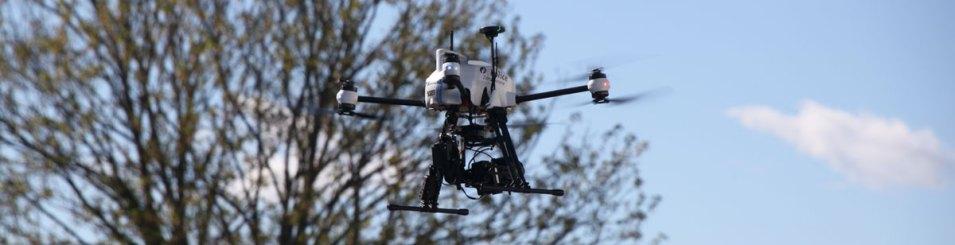 Police drone flight