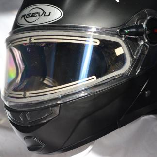 New rear vision snowmobile helmet