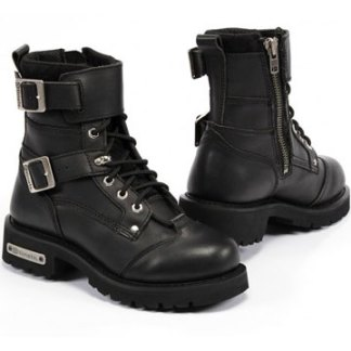 Altimate New York Motorcycle Boot with Side Zip