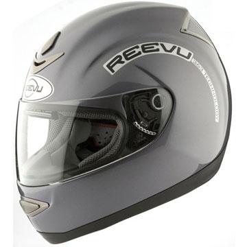 Full face reevu msx1 helmet in Titanium colour