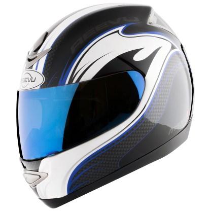 Reevu fullface blue graphic helmet